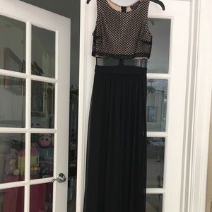 Black and Tan pageant prom dress size 1